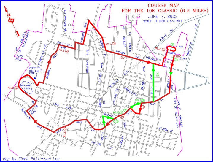 Course Map for the Classic 10K