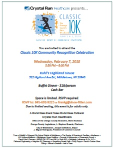 Classic 10k Community Recognition Flyer