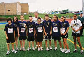 Olympic Gold Medalist Frank Shorter with Junior Classic Milers
