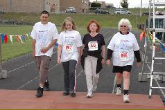 Walkers finish the Rowley 5K